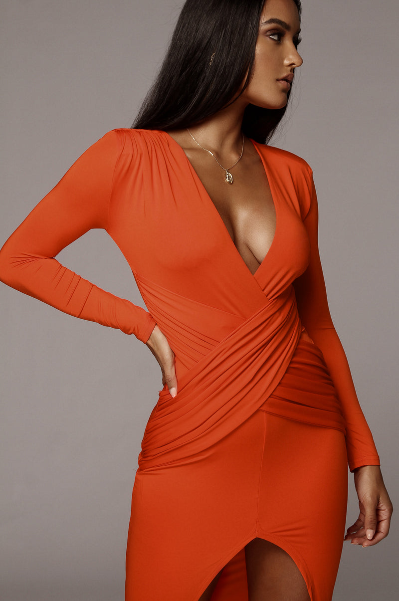 Orange Lora Maxi Dress