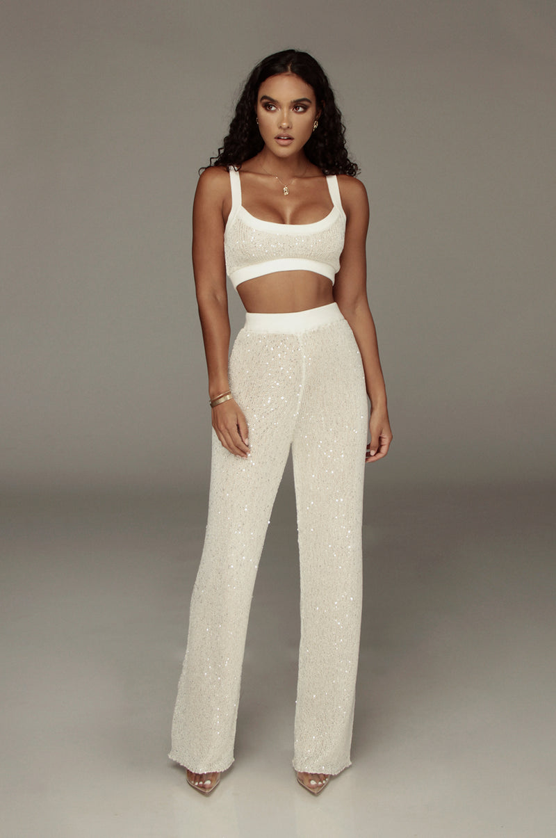 Ivory Urvi Sequin Sweater Pant