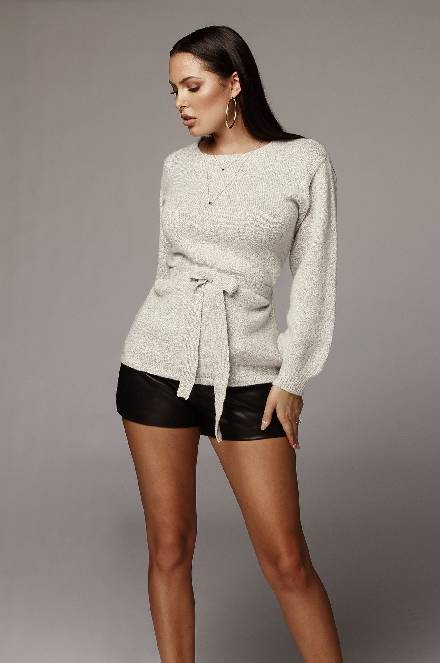 Kyra Belted Sweater