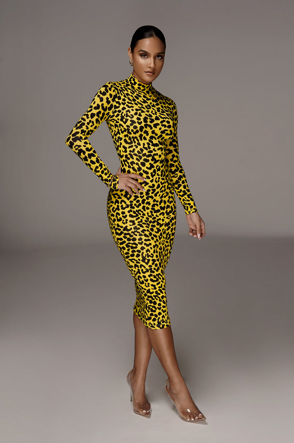 Yellow Prowl Bodycon Dress