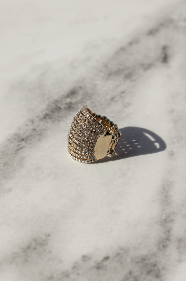 Bold Rhinestone Dome Ring