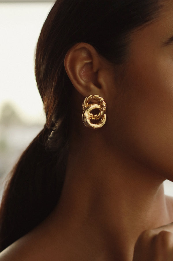 Gold Locked In Earrings
