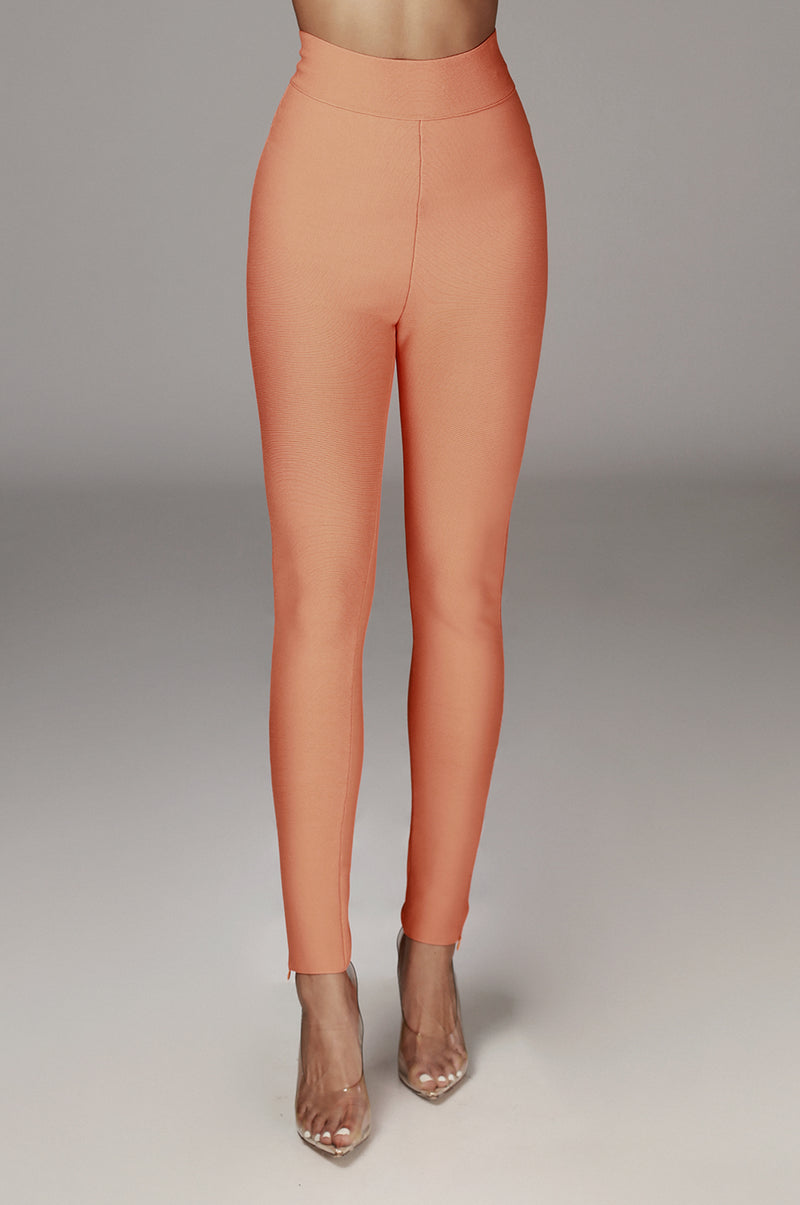 Orange Azalia Bandage Leggings