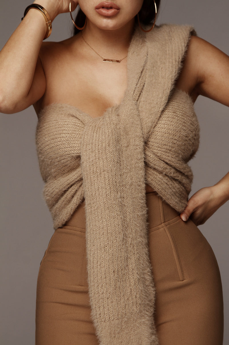 Taupe Soft Blend Scarf