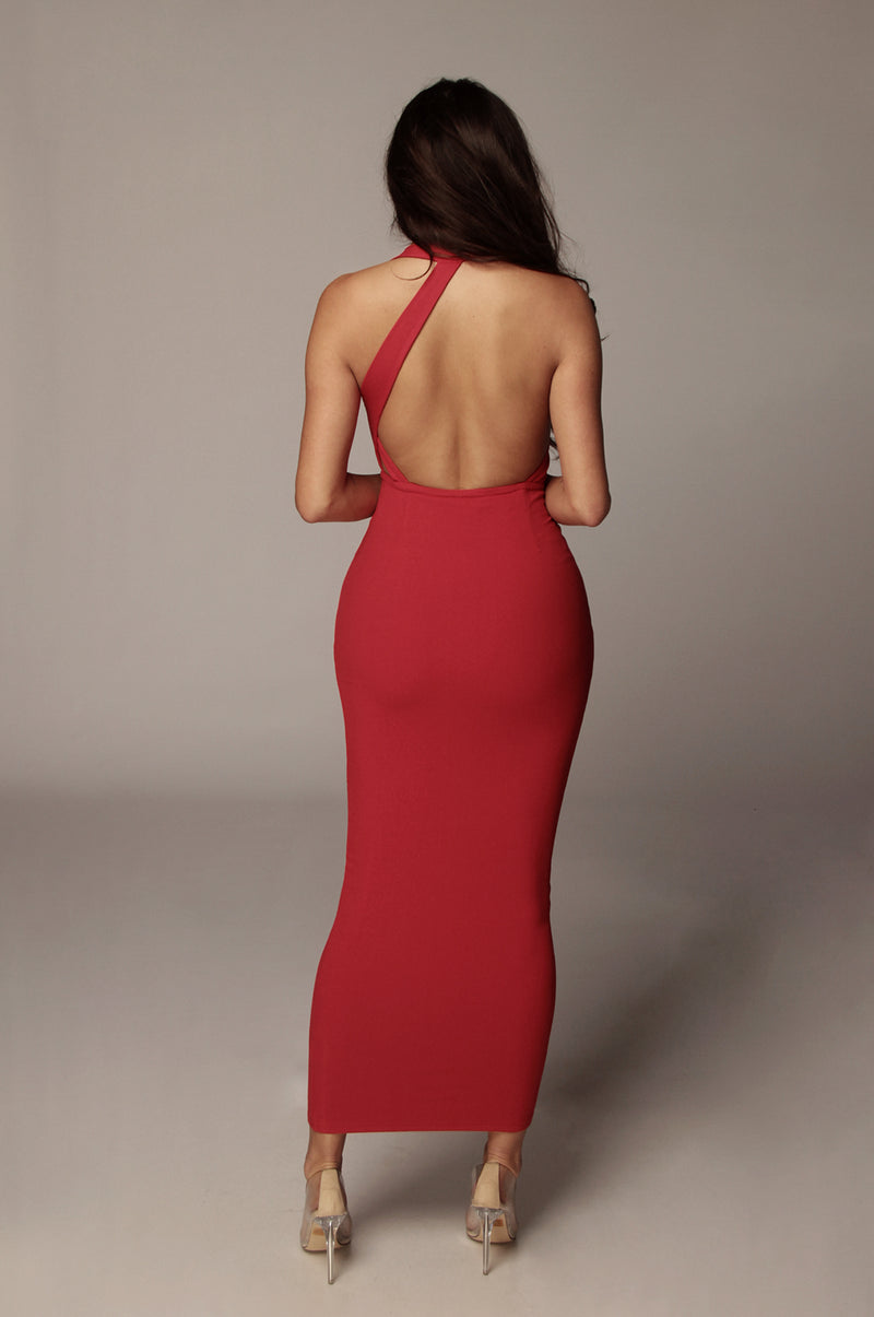 Red Gianna Backless Dress