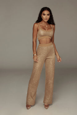 Caramel Urvi Sequin Sweater Pant