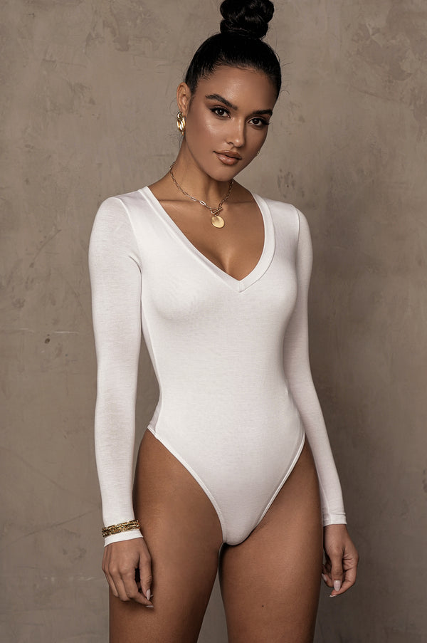 WHITE ROSIO ESSENTIAL BODYSUIT
