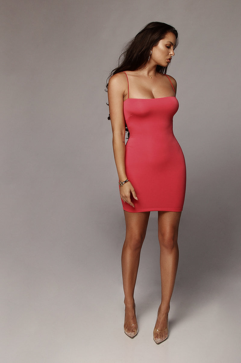 Deep Coral Vivi Mini Dress