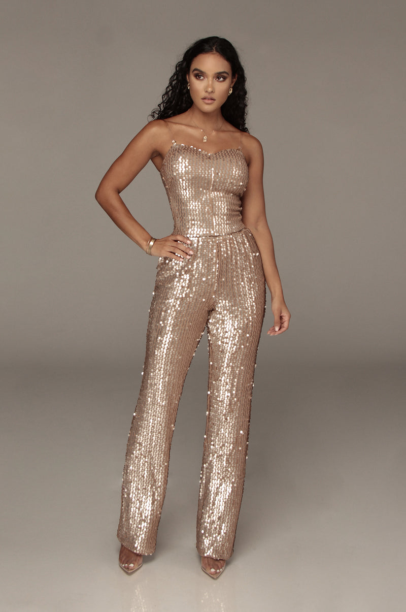 Tan Danni Sequin Pants