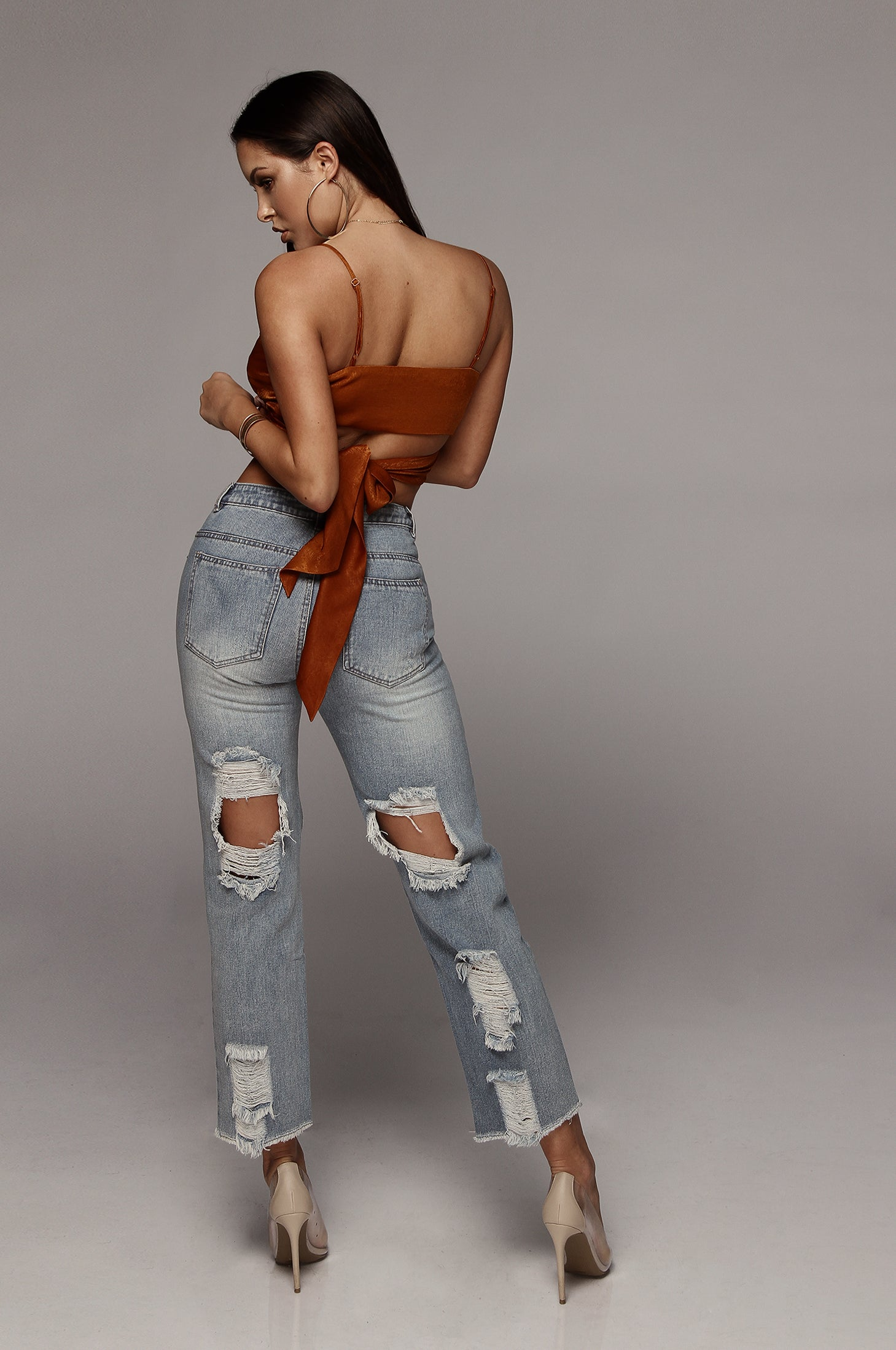 Double Ripped Mom Jeans
