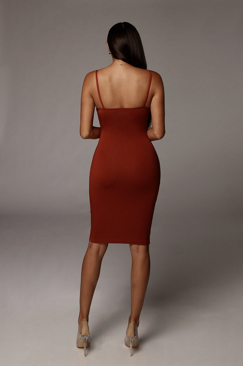 Rust New Jersey Double Lined Dress