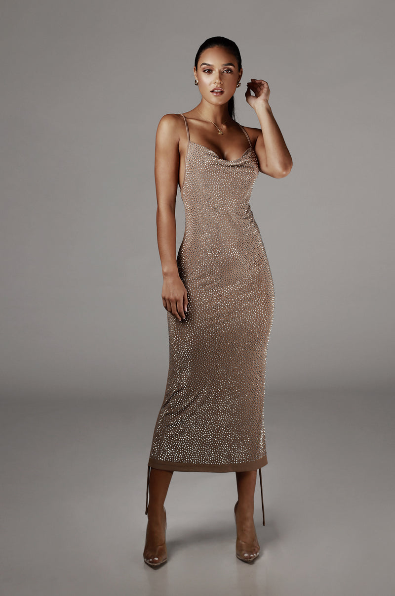 Mocha Esia Studded Dress