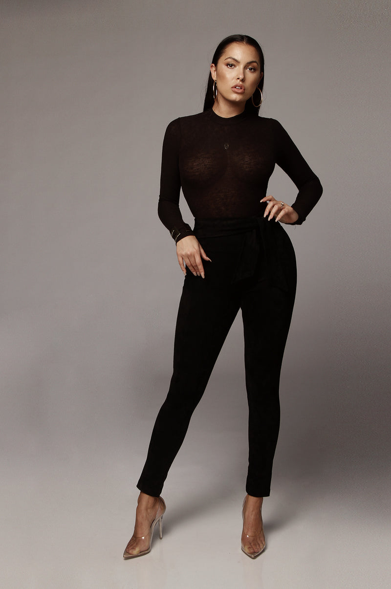 BLACK KIMBER HIGH NECK BODYSUIT