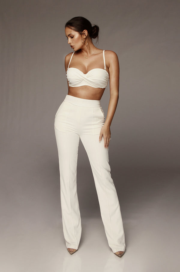 Ivory Giuliana Twisted Bralette