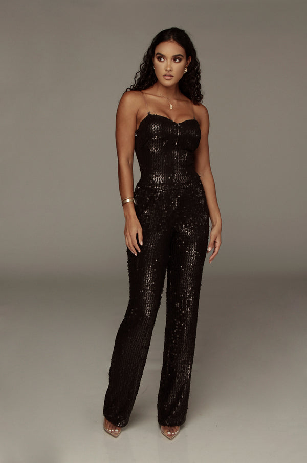 Black Danni Sequin Pants