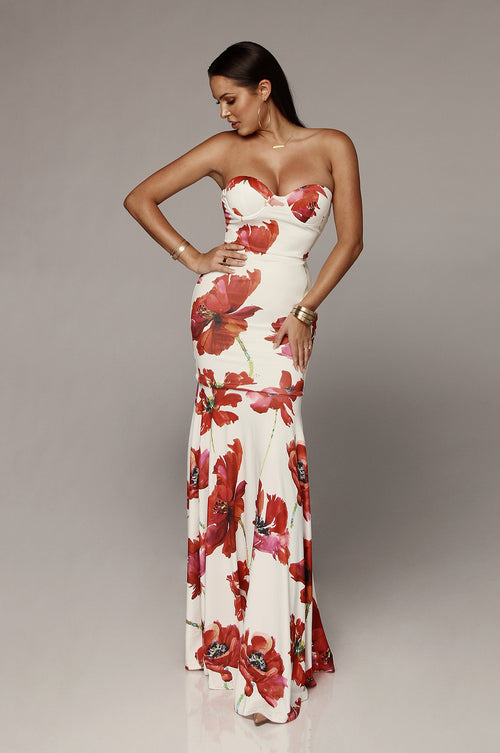 Josie Floral Mermaid Maxi