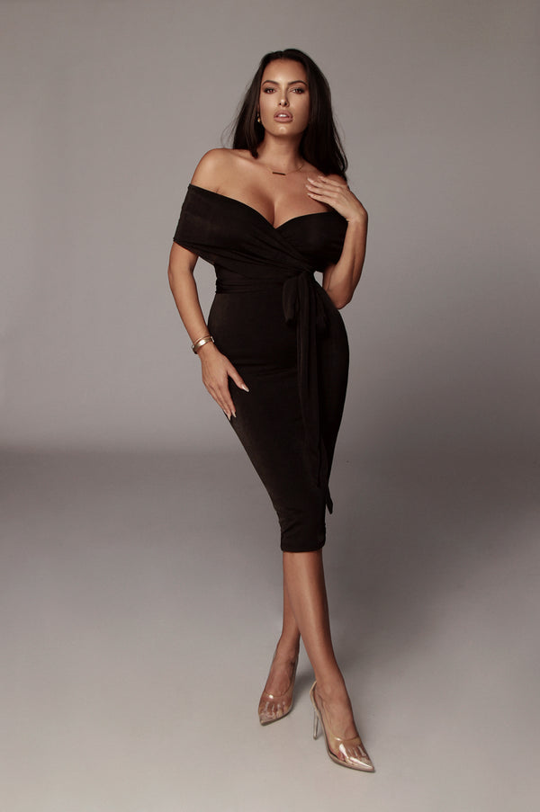 Black Elizabeth Multi-Way Wrap Dress