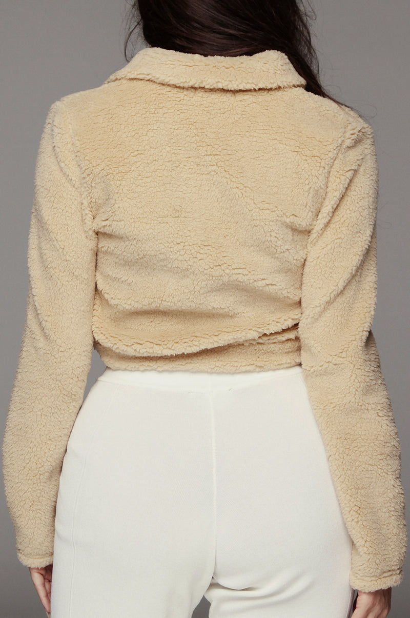Tan Sene Faux Collared Pullover
