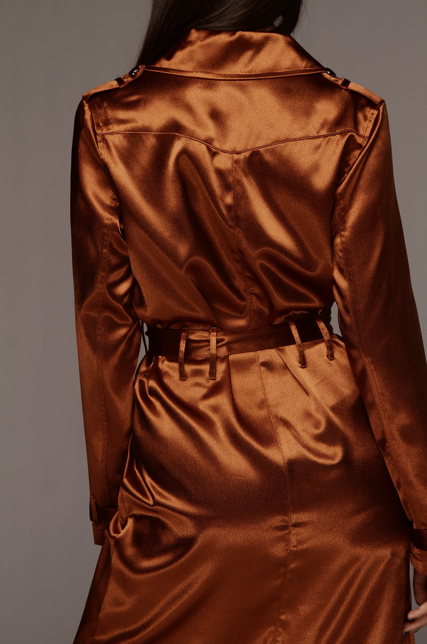 Rust Notorious Satin Coat