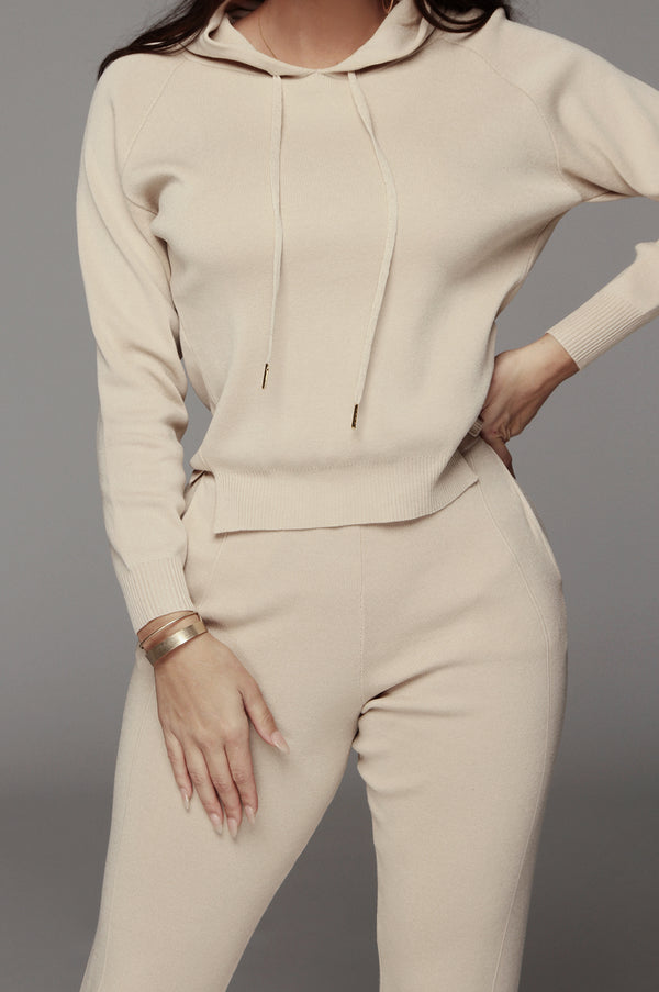 Beige Alma Light Blend Sweater Set