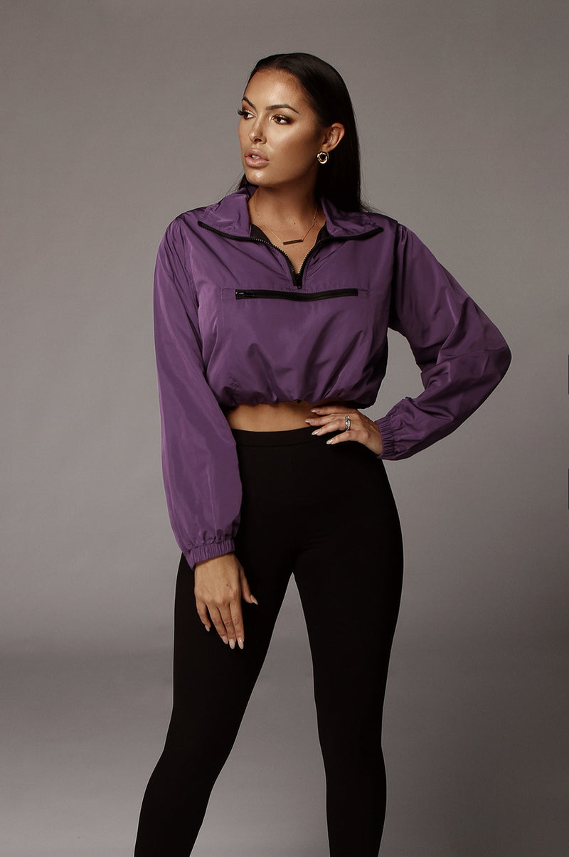 Purple Melody Front Zip Pullover