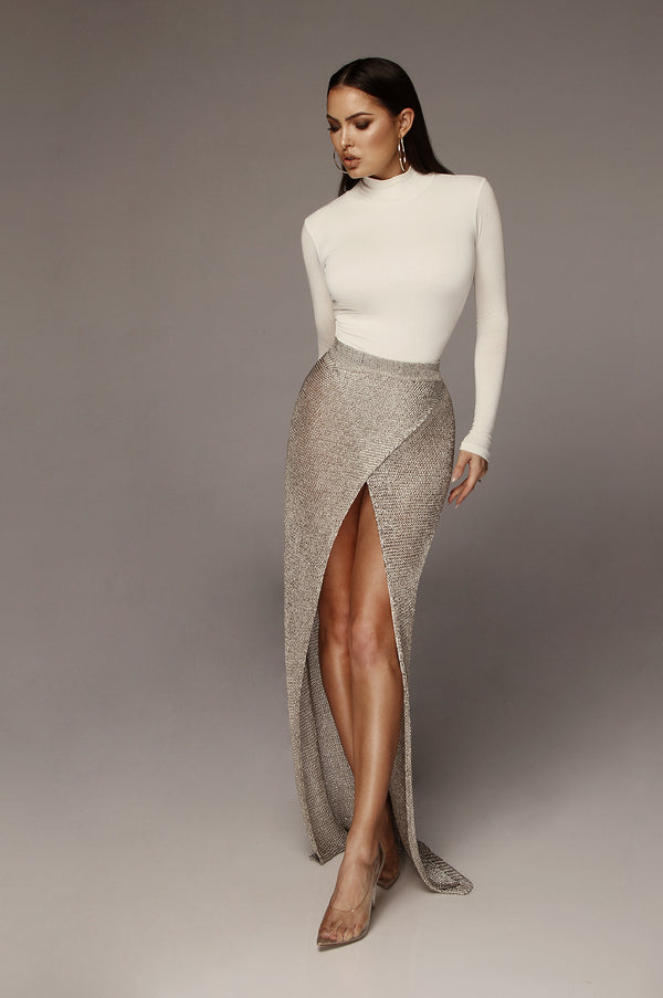 WOW Sand Overlap Metallic Skirt