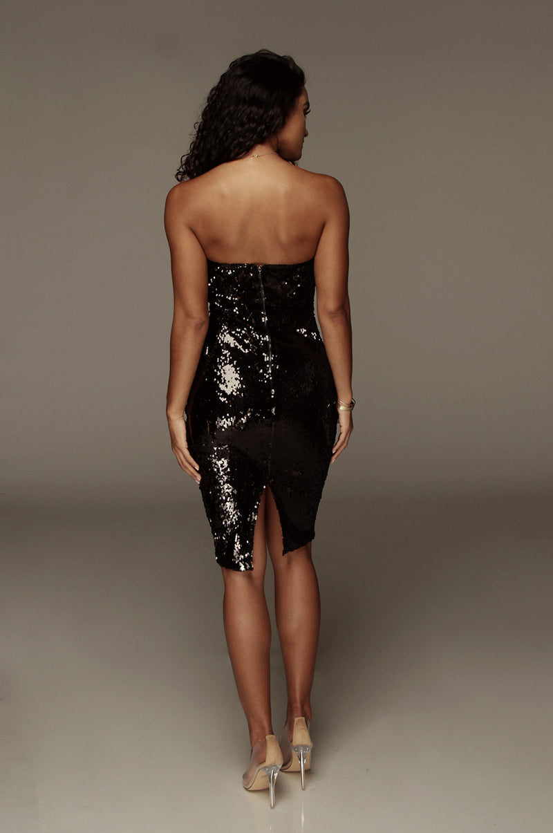 Black Omna Sequin Dress