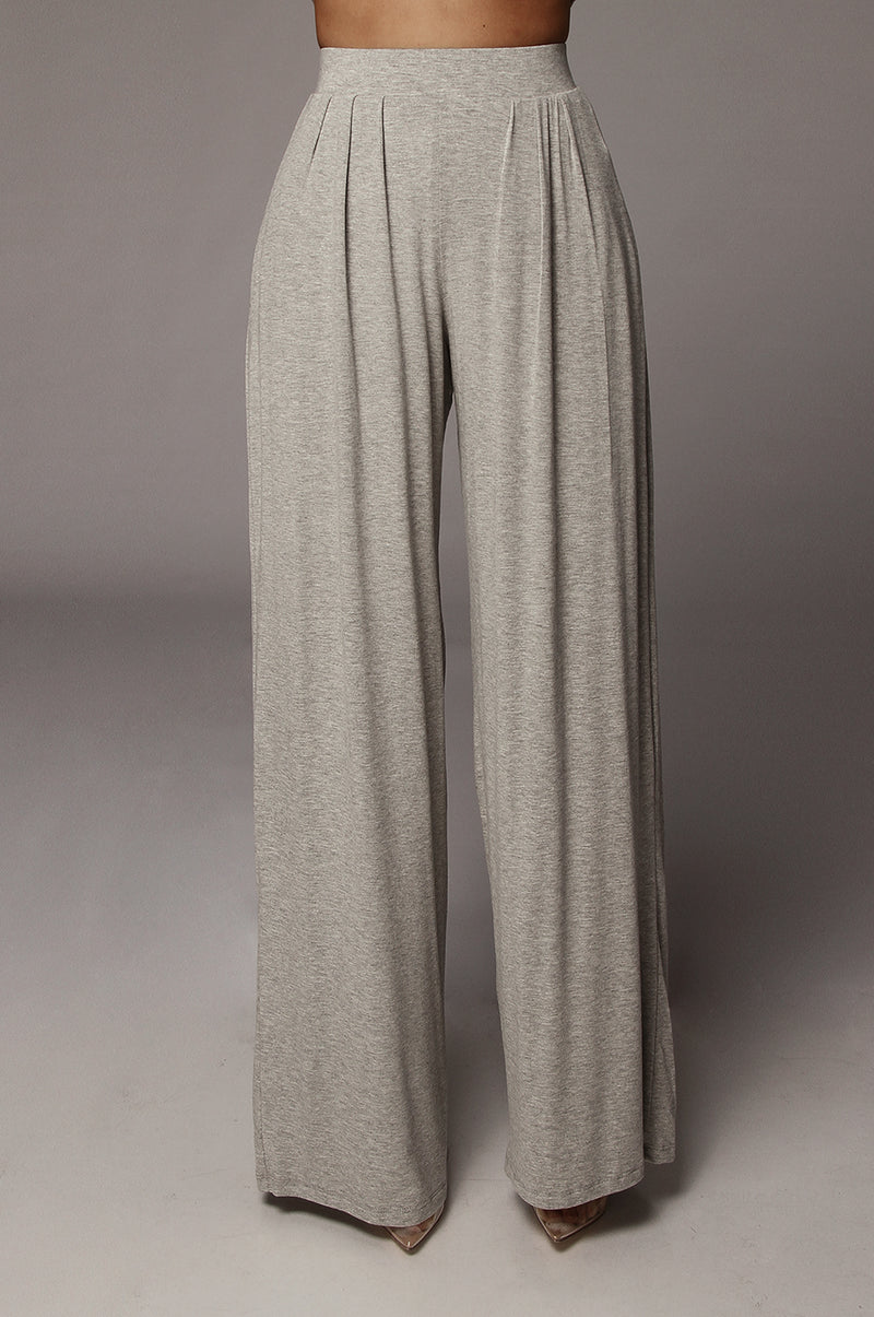 Grey Devyn Wide Leg Pants
