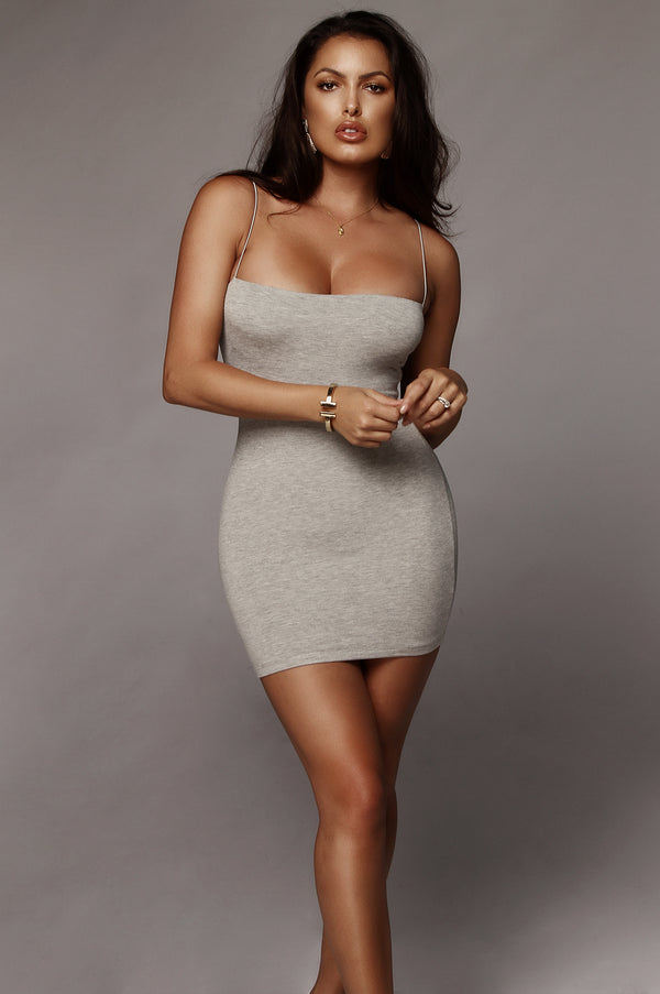 688a5905c6e07 Grey Vivi Mini Dress Grey Vivi Mini Dress