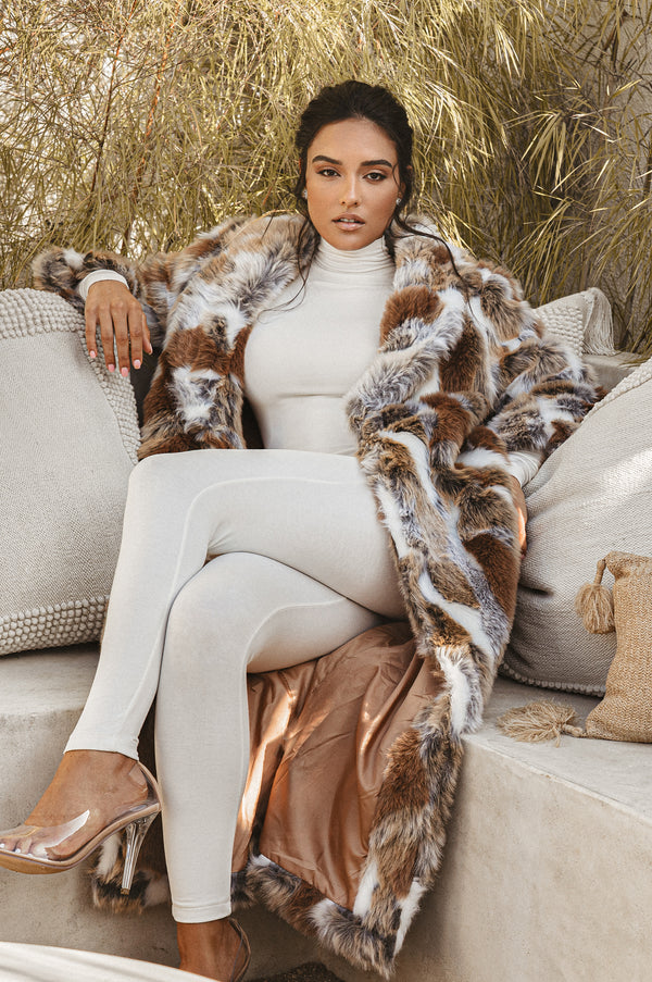 Sially Faux Fur Coat