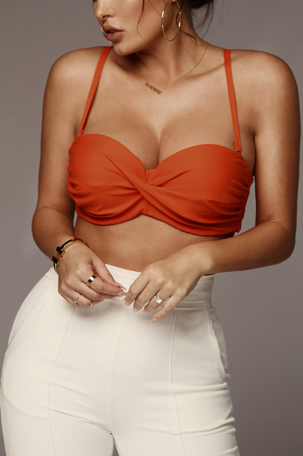 Orange Giuliana Twisted Bralette