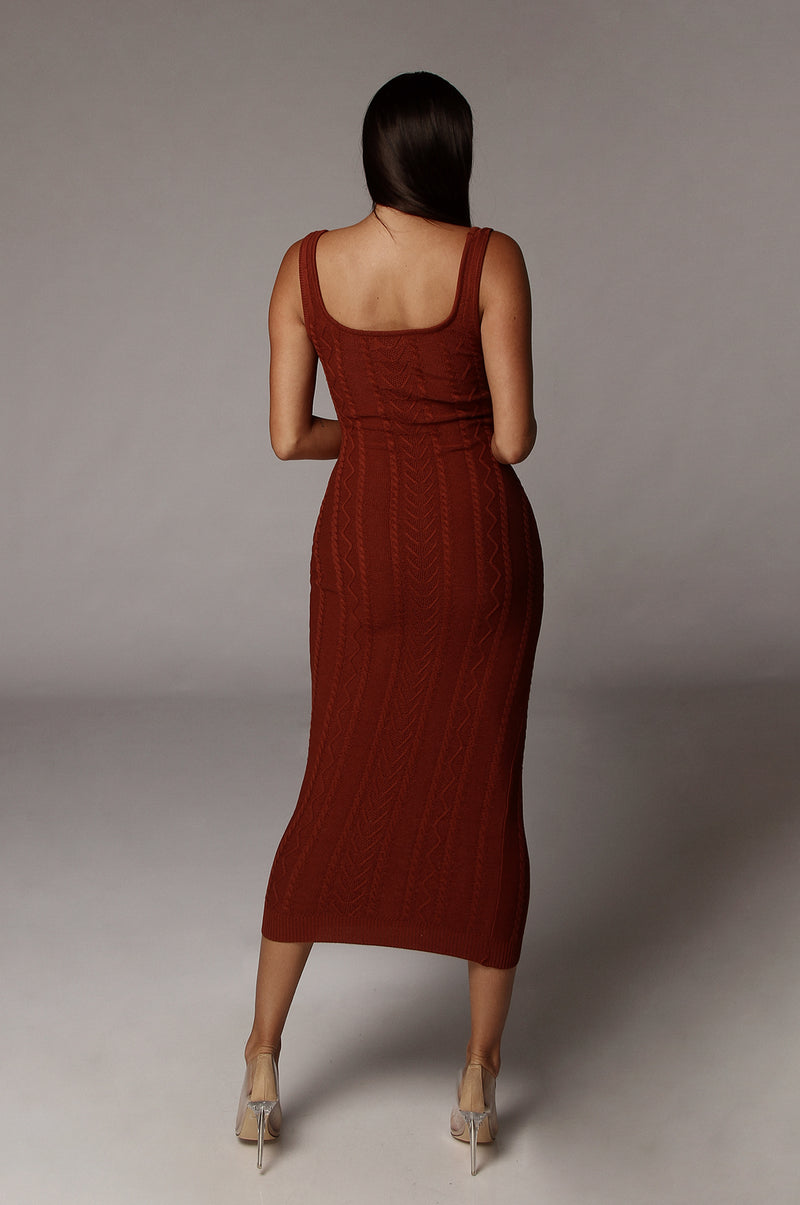 Sienna Jhene Cable Knit Dress