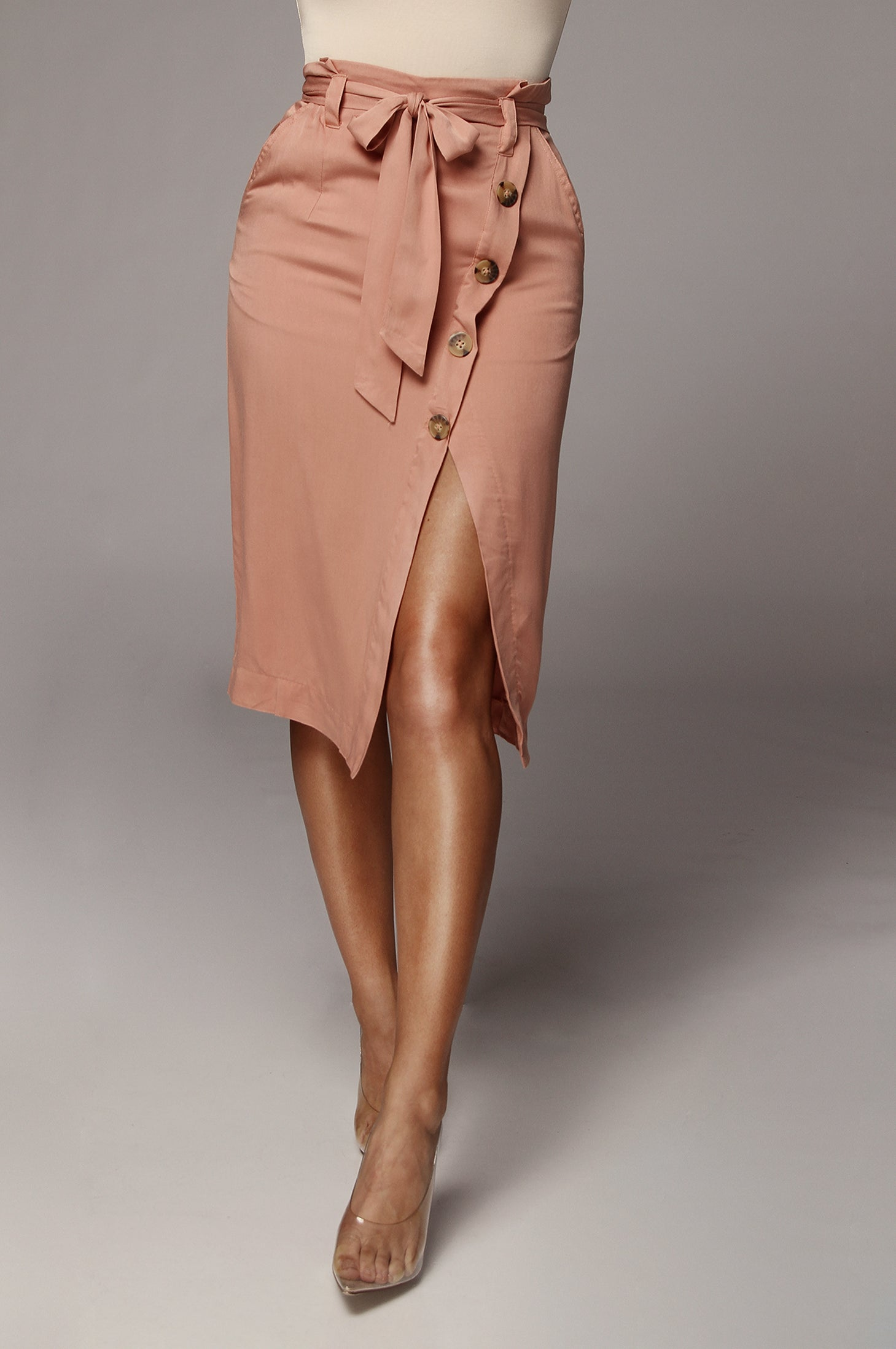 Rose Annie Button Up Pencil Skirt