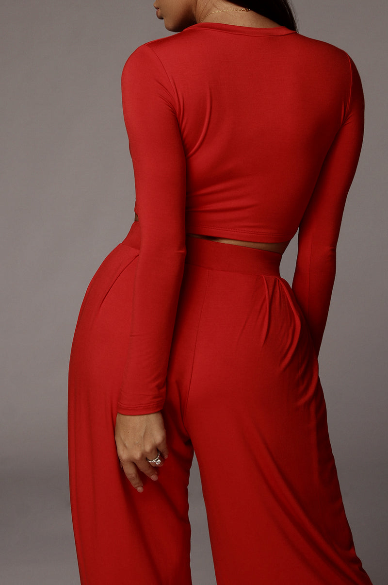 Red Marcia Smooth Crop Top