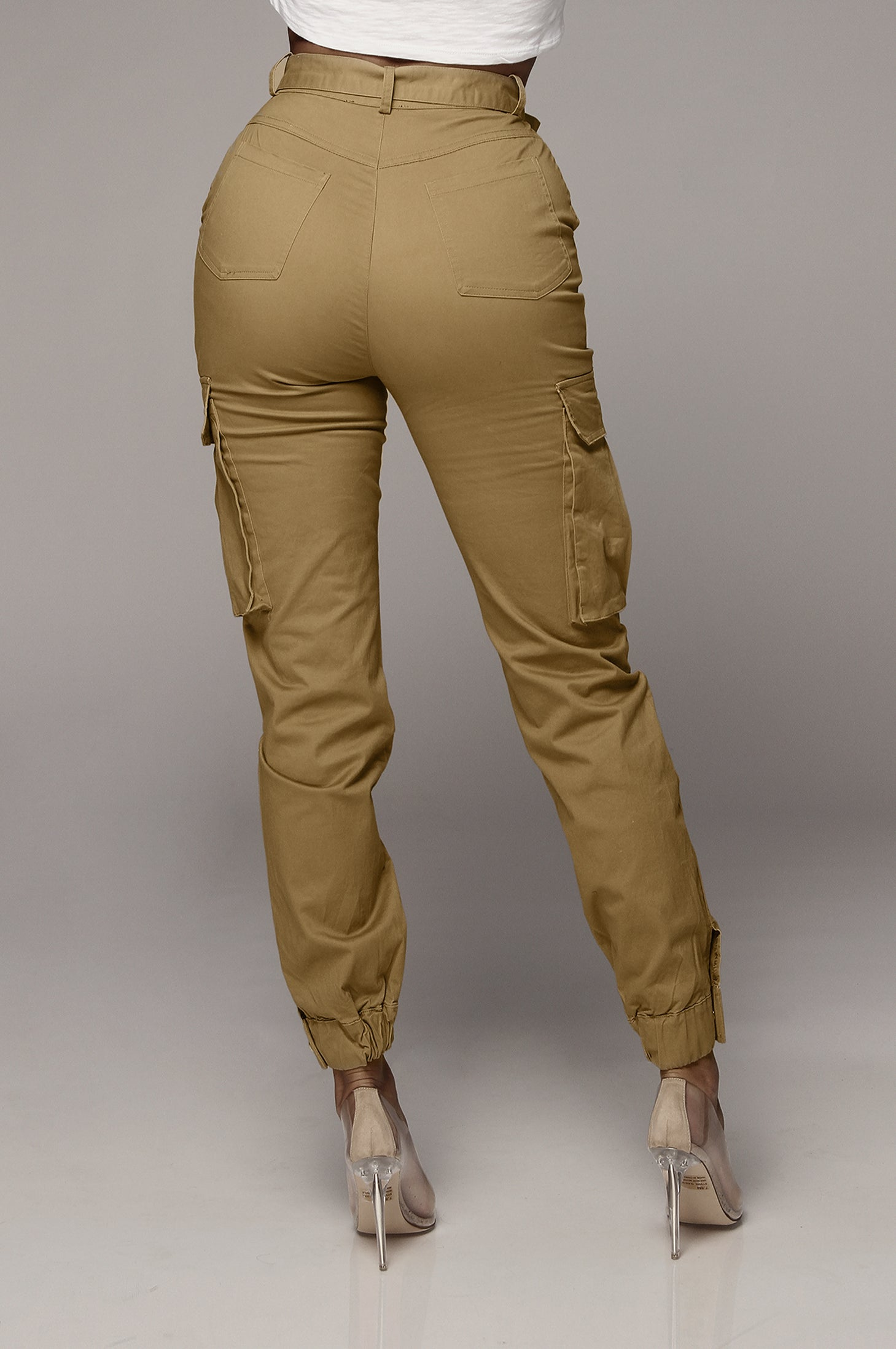 Taupe Cassidy Canvas Cargo Pants