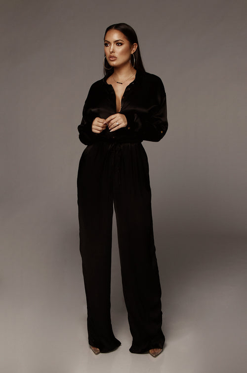 7be185487792 Black Victoria Silk Jumpsuit