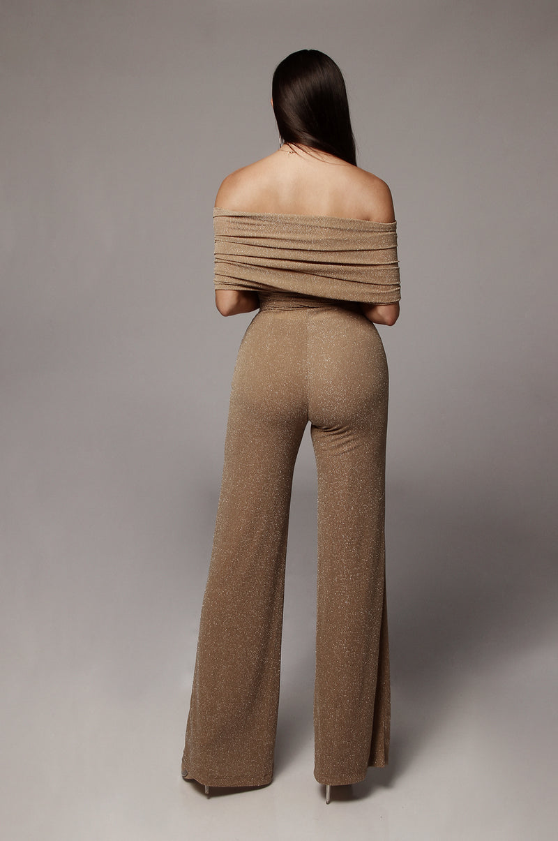 Tan Sparkle J. Rae Multiway Jumpsuit