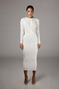 Ivory Ida Cowl Back Dress