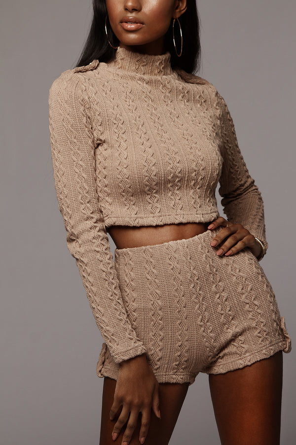 Taupe Haven Sweater Set