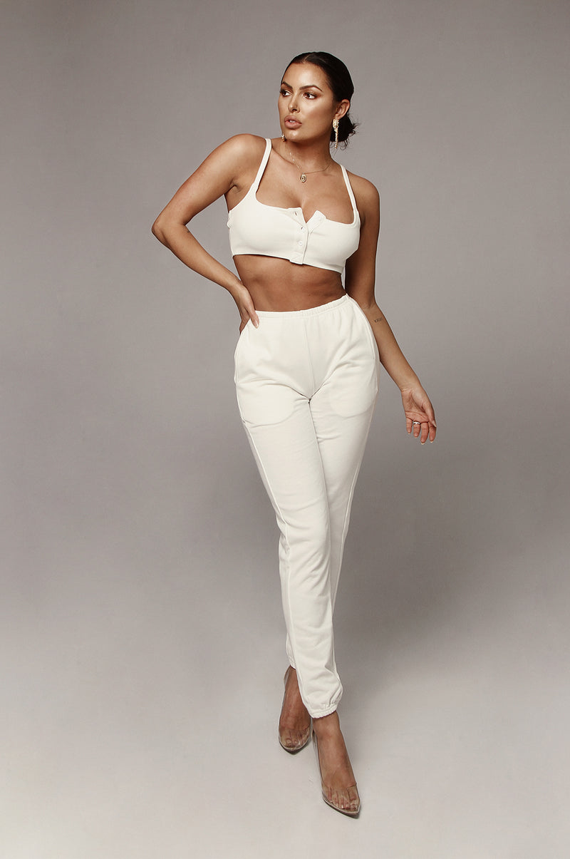 White Conna Joggers Sweatpants