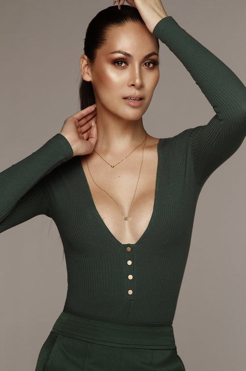 Hunter Green L.O.V.E Snap Bodysuit