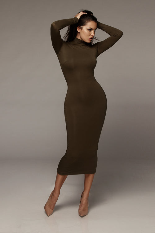 Olive Janessa Double lined Turtleneck Dress