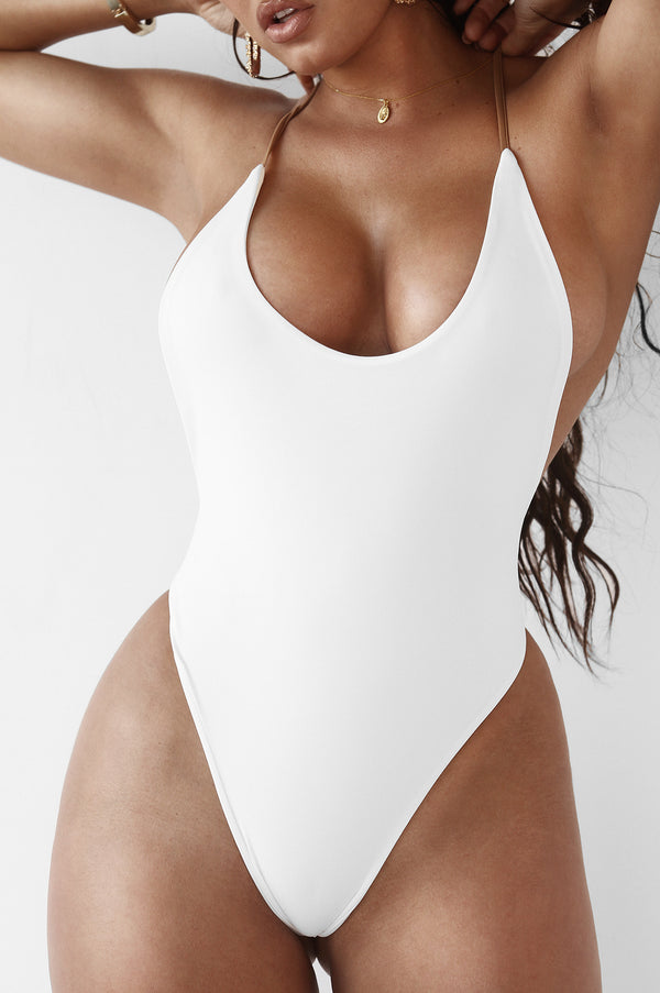 White Issel Backless One Piece