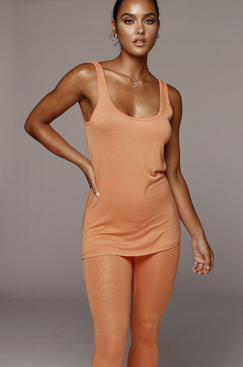 Orange Marlow Knit Tank Top