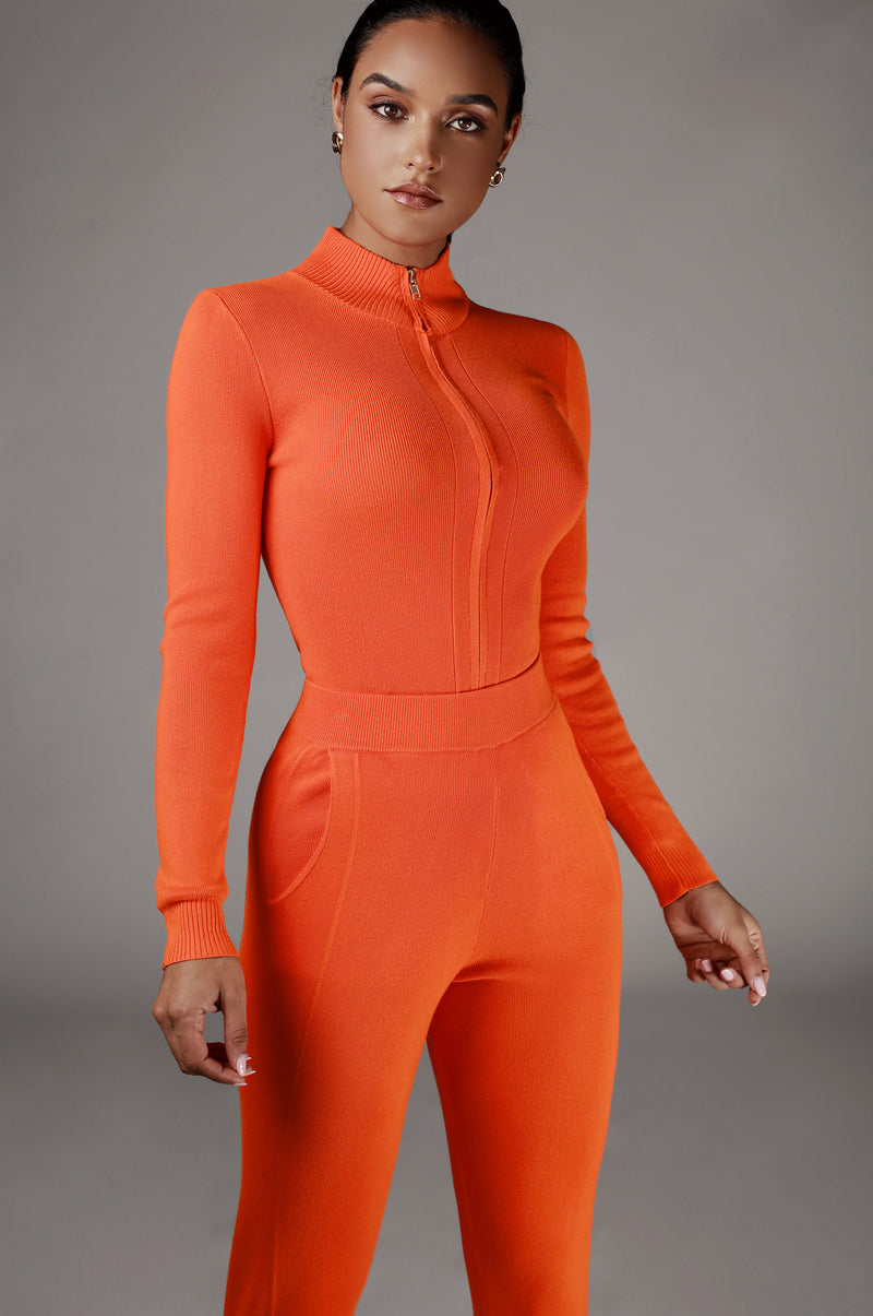 Orange Iriana Sweater Set