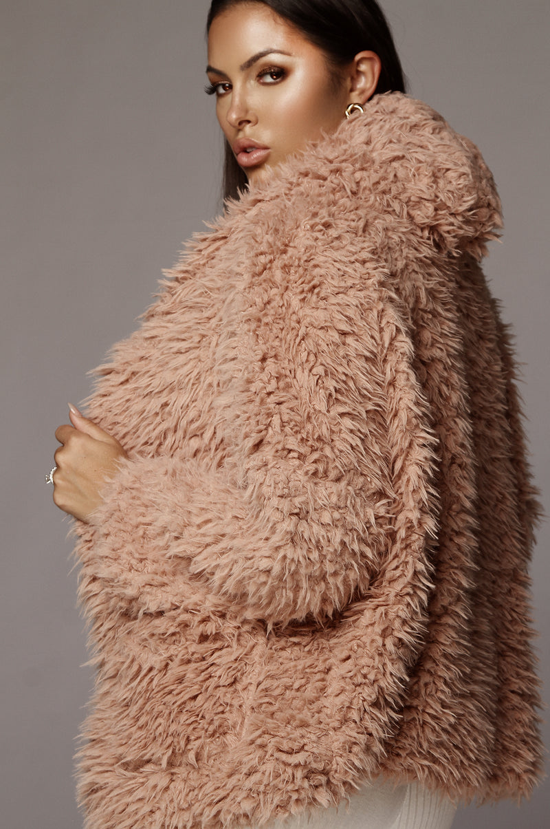 Blush Chewy Hooded Jacket