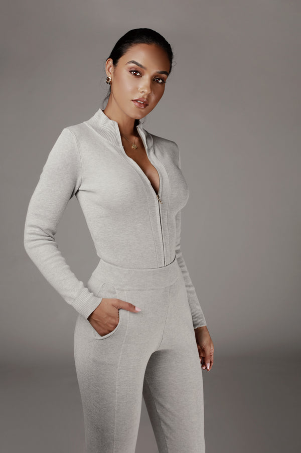 Grey Iriana Sweater Set
