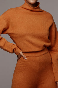 Rust Melida Sweater Top