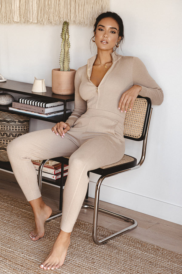 Taupe Iriana Sweater Set