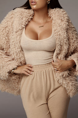 Tan Chewy Hooded Jacket